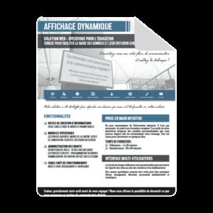 brochure affichage dynamique